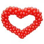 Сердце из шаров в Каменском
