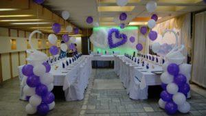 Украшение зала шарами на свадьбу в Каменском