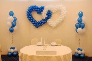 Шары и сердца на свадьбу в Каменском